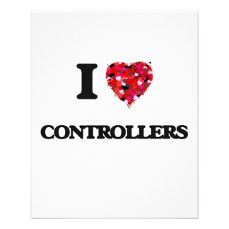 I love Controllers 11.5 Cm X 14 Cm Flyer