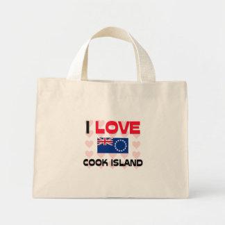 I Love Cook Island Tote Bags