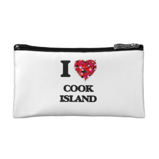 I Love Cook Island Makeup Bags