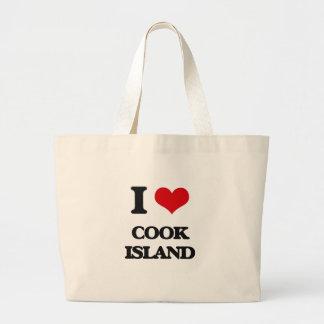 I Love Cook Island Jumbo Tote Bag
