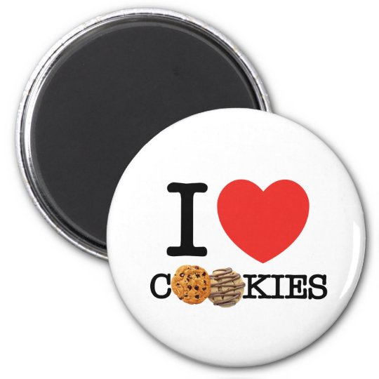 I Love Cookies Magnet