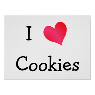 I Love Cookies Poster
