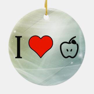 I Love Cooking Apples Round Ceramic Decoration