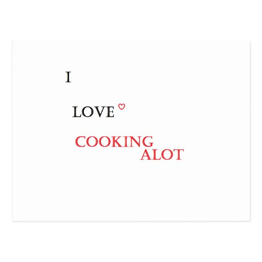 'I love cooking' item Post Cards