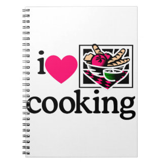 I Love Cooking/Logo Spiral Note Book
