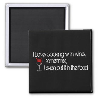 I Love Cooking Square Magnet