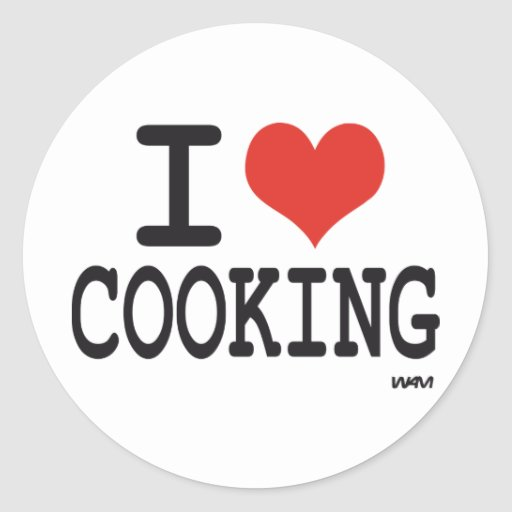 I LOVE COOKING STICKERS