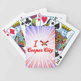 I Love Cooper City Florida Bicycle Poker Cards