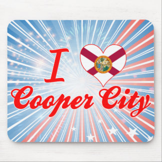 I Love Cooper City Florida Mouse Pads