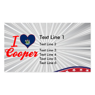 I Love Cooper, Maine Business Card Template