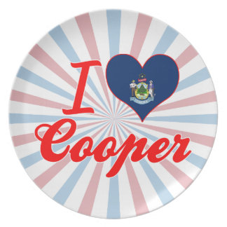 I Love Cooper, Maine Party Plates
