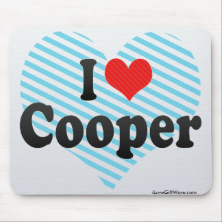 I Love Cooper Mousepads