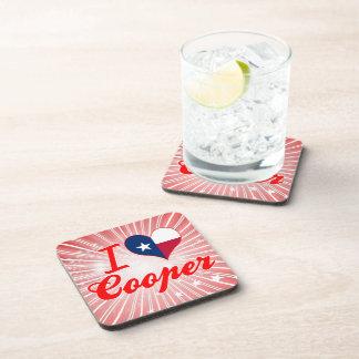 I Love Cooper Texas Beverage Coasters
