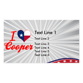 I Love Cooper, Texas Business Card Template