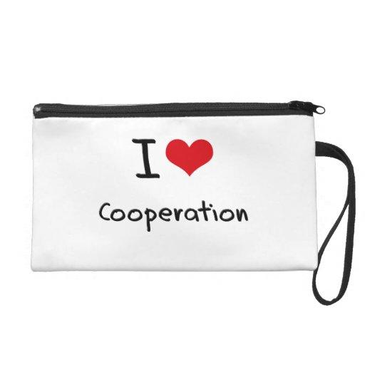 I love Cooperation Wristlet Clutch