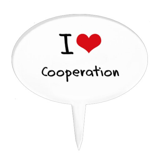 I love Cooperation Cake Picks