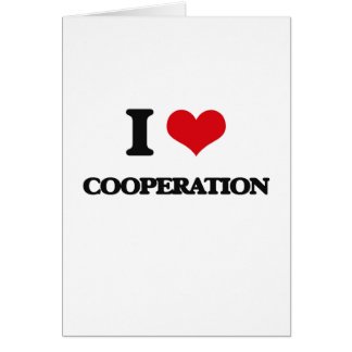 I love Cooperation Greeting Card