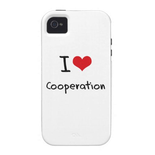 I love Cooperation Vibe iPhone 4 Covers