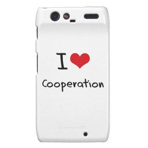 I love Cooperation Motorola Droid RAZR Case