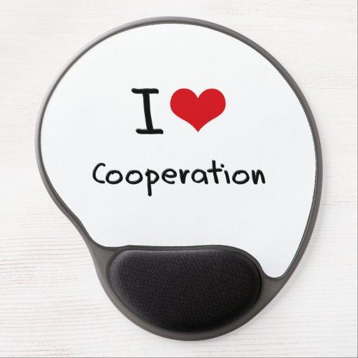 I love Cooperation Gel Mouse Mats