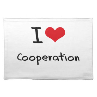 I love Cooperation Place Mats