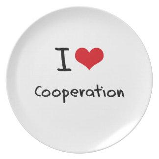 I love Cooperation Dinner Plate