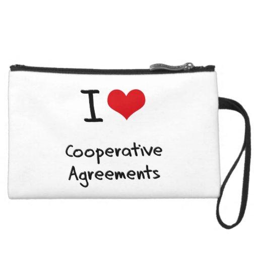 I love Cooperative Agreements Wristlet Purses