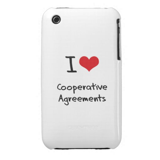 I love Cooperative Agreements iPhone 3 Cover