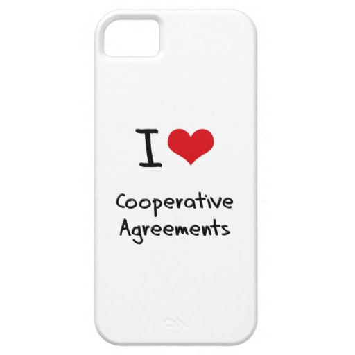 I love Cooperative Agreements iPhone 5/5S Covers