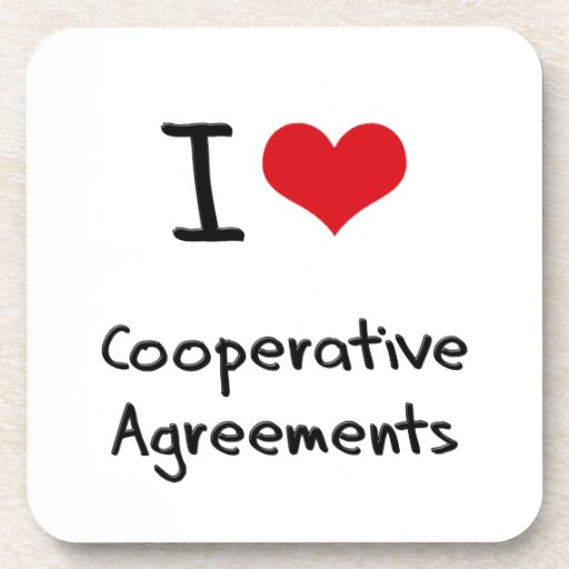 I love Cooperative Agreements Drink Coaster