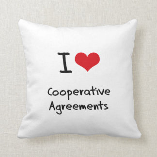 I love Cooperative Agreements Throw Pillow