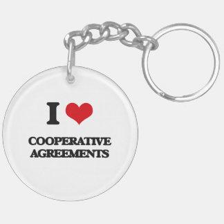 I love Cooperative Agreements Acrylic Key Chain