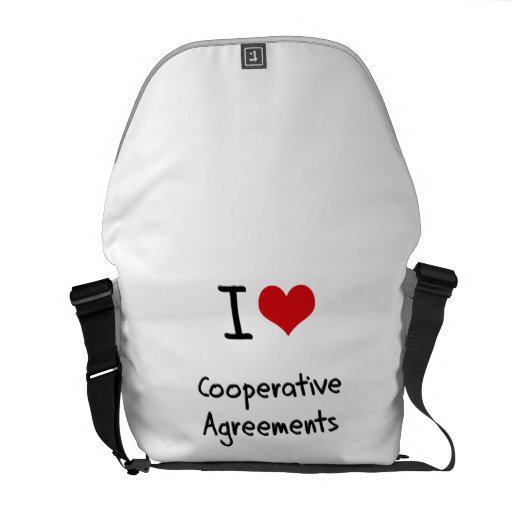 I love Cooperative Agreements Courier Bag