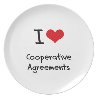 I love Cooperative Agreements Plates
