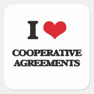 I love Cooperative Agreements Square Sticker