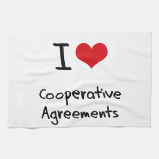 I love Cooperative Agreements Hand Towel