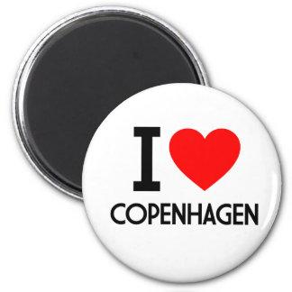 I Love Copenhagen 6 Cm Round Magnet