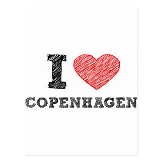 I love Copenhagen Postcard