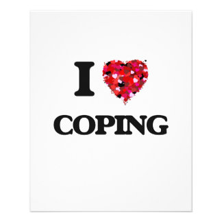 I love Coping 11.5 Cm X 14 Cm Flyer