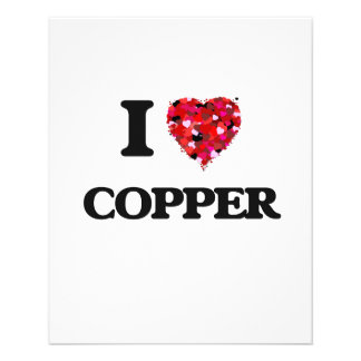 I love Copper 11.5 Cm X 14 Cm Flyer