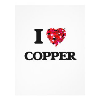 I love Copper 21.5 Cm X 28 Cm Flyer
