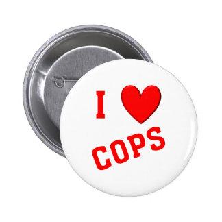 I Love Cops Pins