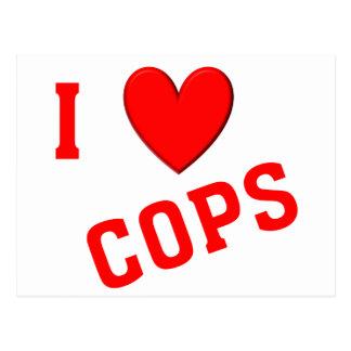 I Love Cops Postcard