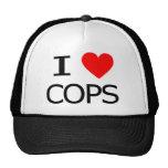 I Love Cops Trucker Hats