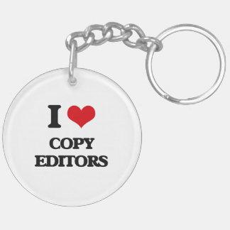 I love Copy Editors Key Chains