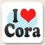 I love Cora Beverage Coaster