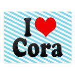 I love Cora Postcard