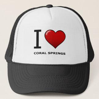 I LOVE CORAL SPRINGS,FL - FLORIDA TRUCKER HAT