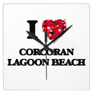 I love Corcoran Lagoon Beach California Clock