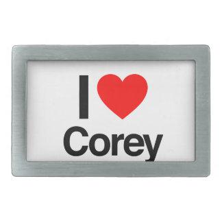 i love corey belt buckles